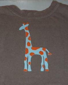 Giraffe Freezer-Paper Stenciling