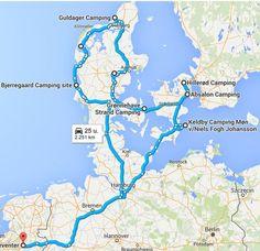 Route van onze rondreis Denemarken met kinderen in de zomer van 2015. Incl kosten en een filmpje met eerste indrukken.