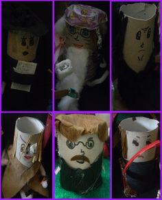 Hogwart's staff : Minerva McGonnagall, Albus Dumbldore, Severus Snape, Alastor Mad-Eye Moody , Filius Flitwick and Argus Filch.