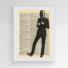Nick Cave, Nick Cave & The Bad Seeds, Grinderman Poster, Minimalist Art Print, Music Art, Nick Cave Print by photoplasticon on Etsy