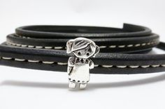 6 X licorice leather finding large bow girl Silver by frameyourbag, €3.59