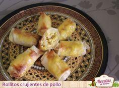 Receta con masa brick: Crujientes de pollo