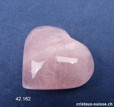 Coeur Quartz rose du Brésil 6 x 5,2 x 2,1 cm d'épais. Pièce unique 85 grammes Cordon En Cuir, Quartz Rose, Cookie Cutters, Unique, Carnelian, Angel Wings, Angels, Crystals