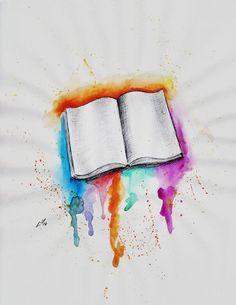 watercolor book tattoos - Google-søgning