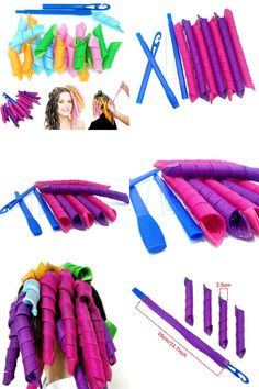 [Visit to Buy] elefunlife Hook Easy Curls Spiral Magic Curls Styling Kit Party Hair work Hair Rollers kit easy to use #Advertisement