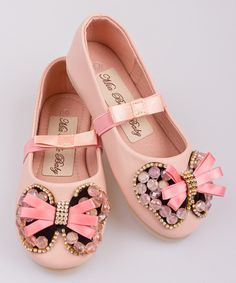 Pink Crystal Butterfly Ballet Flat on #zulily