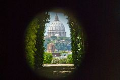 View from The Keyhole of the Knights of Malta, Rome