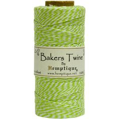 Cotton Baker's Twine Spool 2-Ply 410'-Lime