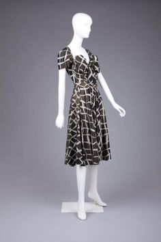 Dress Gilbert Adrian, 1950s The Goldstein Museum of Design