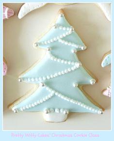 Christmas tree cookies by lesley