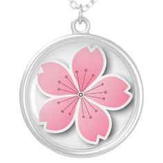 Simple and elegant Sakura Necklace