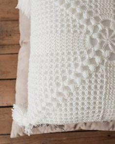 PDF Crochet Pattern for The Crochet Cottage Pillow Megmade Cushion Cover Pattern, Crochet Cushion Cover, Crochet Pillow Pattern, Crochet Motifs, Crochet Cushions, Cushion Covers, Crochet Puff Flower, Crochet Sunflower, Crochet Flower Patterns