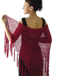 Scarlet Ribbons Shawl