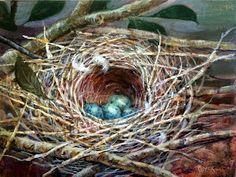 Art Talk - Julie Ford Oliver: Blue Jay Nest...and more