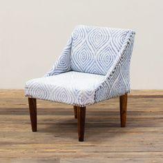 Blue Glow Upholstered Chair | dotandbo.com