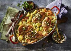 One Pot Ofenhähnchen mit Kartoffeln und Mandeltopping