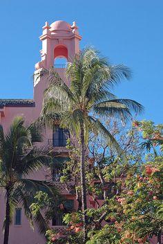 Pink Palace of the Pacific, The Royal Hawaiian Hotel, Waikii/Honolulu
