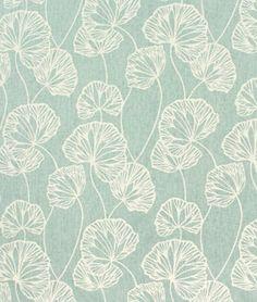Love this sea foam green ... this cotton/linen fabric would make pretty curtains in a beach house.
