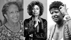 Negras que fizeram e fazem a diferença no Mundo | da esquerda para direita: a juíza Luislinda Valois, a socialista Angela Davis e a fundadora do MNU, Lélia Gonzales