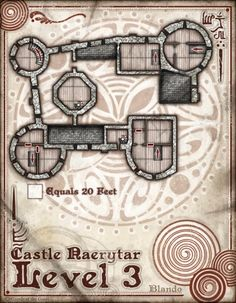 Image of Castle Naerytar: level 3 (DM/Player Version Digital Download)
