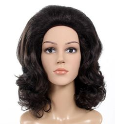 DELUXE 1950's Classic Dark Brown Bouffant Costume Wig. Expect to normally pay over $120 for this style and quality deluxe costume wig!  This is an amazing wig, it looks and feels spectacular!  This is a beautiful classic dark brown 1950's style with a high bouffant and soft curls. Very stylish and perfect for that classical 1950's-1960's party. Very high quality wig. It is made out of deluxe kanekalon synthetic fibre. www.thewigoutlet.com.au
