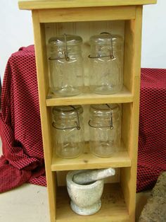 Kitchen Pantry Storage Spice Rack with Marble  by BlueMooseThings, $49.00