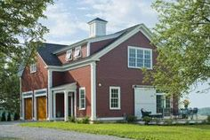 """""""This Greek Revival carriage barn in Hinesburg, Vermont is a wonderful example from Connor Homes.""""   To learn more click link"""