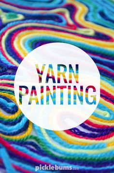 DIY - wall art with yarn - places like heavenDIY - wall art with yarn,Yarn painting. - PicklebumsWould you like to paint without color? Try yarn painting! Art Activities For Kids, Preschool Art, Art For Kids, Arts And Crafts Projects, Diy Crafts For Kids, Craft Ideas, Kids Diy, Yarn Painting, Camping Crafts