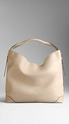 806b335d747 Medium Leather Hobo Bag Burberry Handbags