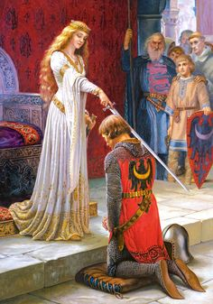 Edmund Blair Leighton - The accolade (853×1219)