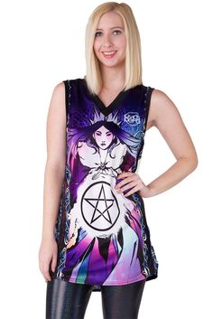 Queen of Pentacles Rainmaker Living Dead Clothing, Pentacle, Online Clothing Stores, Tie Dye, Queen, Blouse, Aud, Clothes, Collection