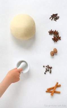 Kid-Made Spice Scented Playdough from Fun at Home with Kids