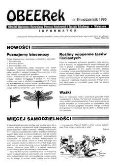 Redakcja katalogu wydawniczego pomocy dydaktycznych oraz pisma OBEERek, OBR Pomocy Naukowych i Sprzętu Szkolnego