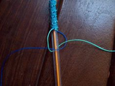 This pattern works for 'tangle-proofing' headphone wires.  Very simple pattern at this site