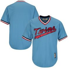 3e098785e31 Minnesota Twins Majestic Cooperstown Cool Base Team Jersey - Light Blue Minnesota  Twins Baseball