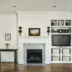 Asymmetrical built in - like the fireplace we have with door on one side.  Built in could be same height/width as door?