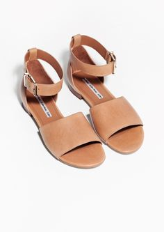 & Other Stories | Ankle Strap Flat Sandals