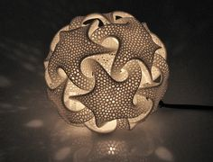 Complex Geometric Lamp Designs Produced with 3D Printing - My Modern Metropolis