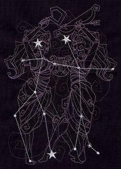 Ecliptic Constellations - Gemini design (UT5612) from UrbanThreads.com