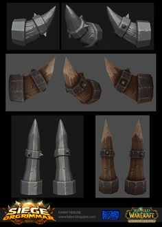 """I would like to share with you my work done on World of Warcraft as texture artist for the new patch """"Siege Of Orgrimmar"""". Texture Painting, Texture Art, Low Poly, Zbrush, Game Textures, Hand Painted Textures, 3d Mesh, Prop Design, Game Design"""