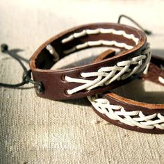 Leather Bracelet /Unisex / Hand Strap /Handmade Leather Bracelet/Bangles. $18.00, via Etsy.