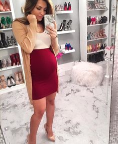 d163165af8d Time to get those weekend vibes going in the comfiest maternity bodycon on  the market for pregnancy fashion! This Sexy Mama is staying cozy in her  Two-Tone ...