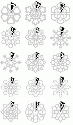 Snowflake templates! Follow Us on Facebook --> www.facebook.com/iCreativeIdeas
