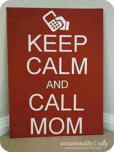 Occasionally Crafty: Mothers Day sign