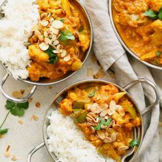 Cauliflower and Chickpea Curry Blumenkohl-Kichererbsen-Curry Rezepte Curry Recipes, Veggie Recipes, Indian Food Recipes, Whole Food Recipes, Vegetarian Recipes, Cooking Recipes, Healthy Recipes, Beef Recipes, Easy Recipes