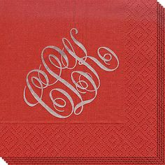 Design Your Own Grosgrain Red Caspari Napkins