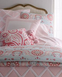 """Annabel"" Bed Linens by SERENA & LILY at Horchow."
