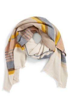 Hinge++'Jacquard+Stripe+Scarf+available+at+#Nordstrom