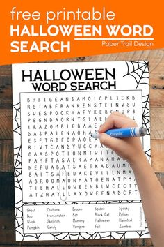 This Halloween word search printable is the perfect indoor Halloween activity for a family or for a Halloween party activity. Classroom Halloween Party, Halloween Words, Halloween Activities For Kids, Halloween Party Games, Halloween Design, Halloween Themes, Halloween Fun, Holiday Activities, Halloween Word Search
