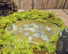 Dit object is niet meer beschikbaar voor Kerstmis levering. Bekijk onze andere objecten sneller draai rond tijd :) GELIEVE TE LEZEN!!! Deze aanbieding is een advertentie op! Deze aanbieding is het toevoegen van een miniatuur waterval, vijver of rivier naar uw * Gypsy Raku * terrarium! Lees de volledige objectbeschrijving doorlezen voordat u tot aankoop! Gelieve te kiezen: * Vijver (afgebeeld in tweede foto) * Rock waterval (afgebeeld in eerste en laatste foto) * Gebeeldhouwde waterval (Hand…